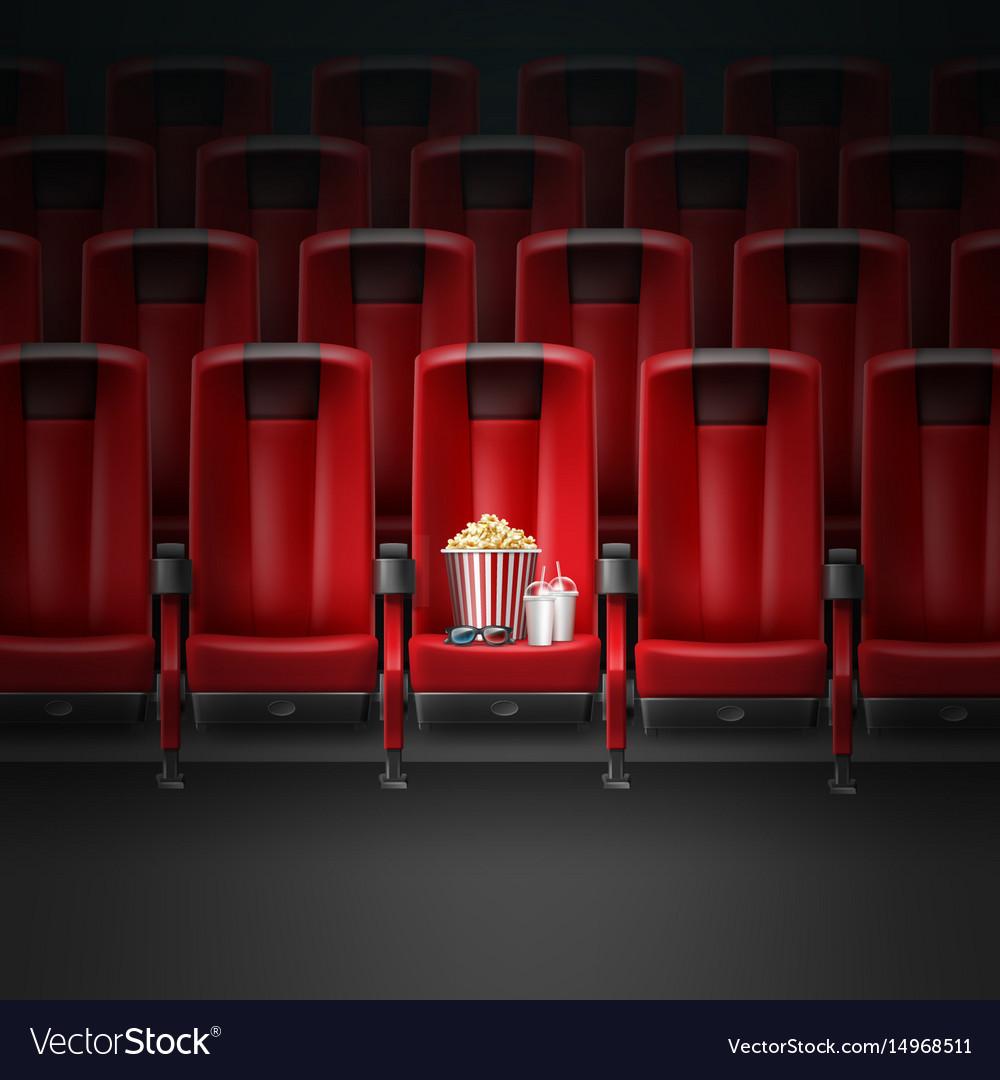 Cinema movie theater vector image