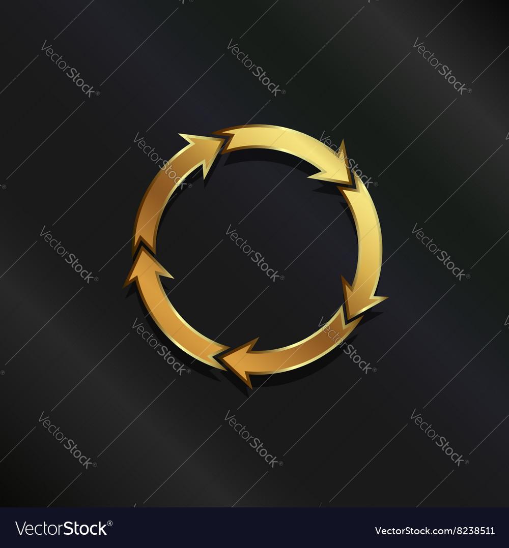 Gold life circle logo vector image