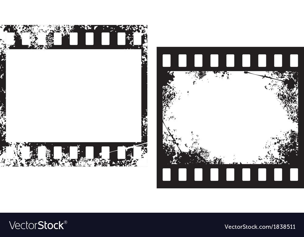 Grunge film frames vector image