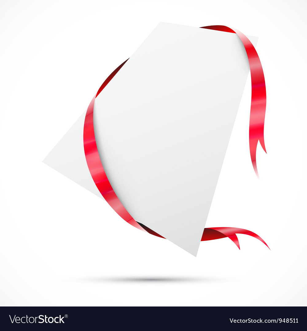 Sale tag Red ribbon vector image