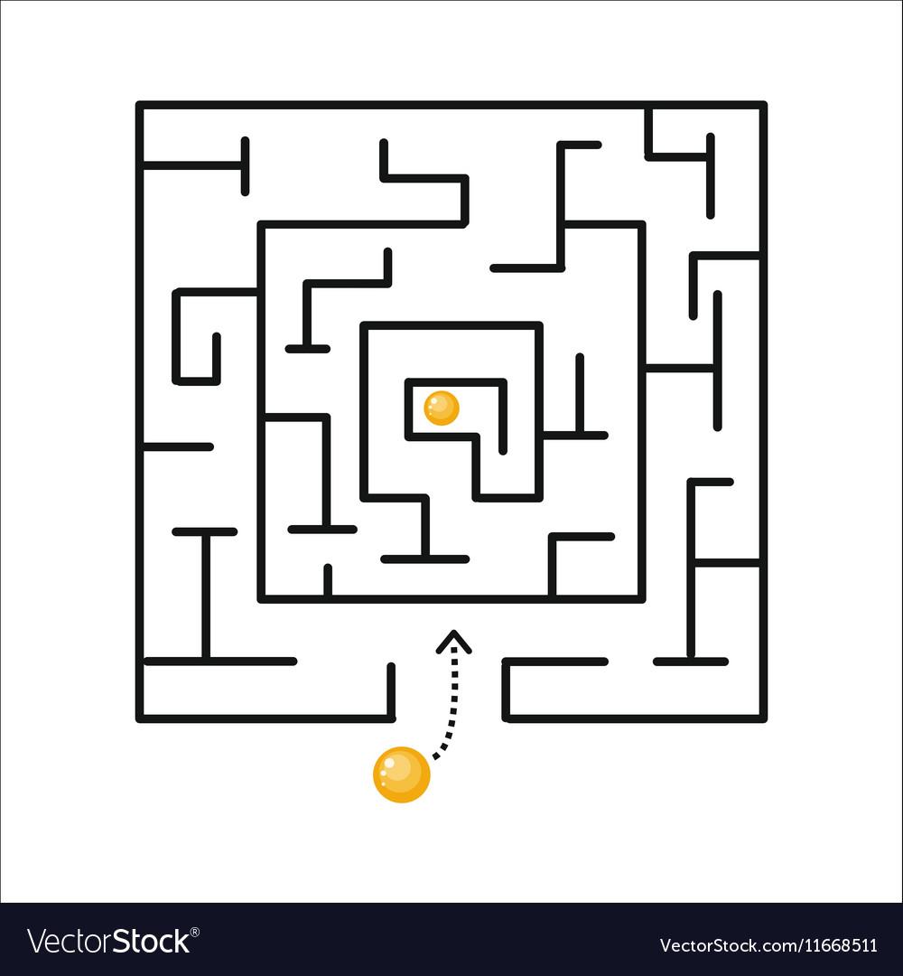 Strategy Labyrinth Shape Design Element vector image