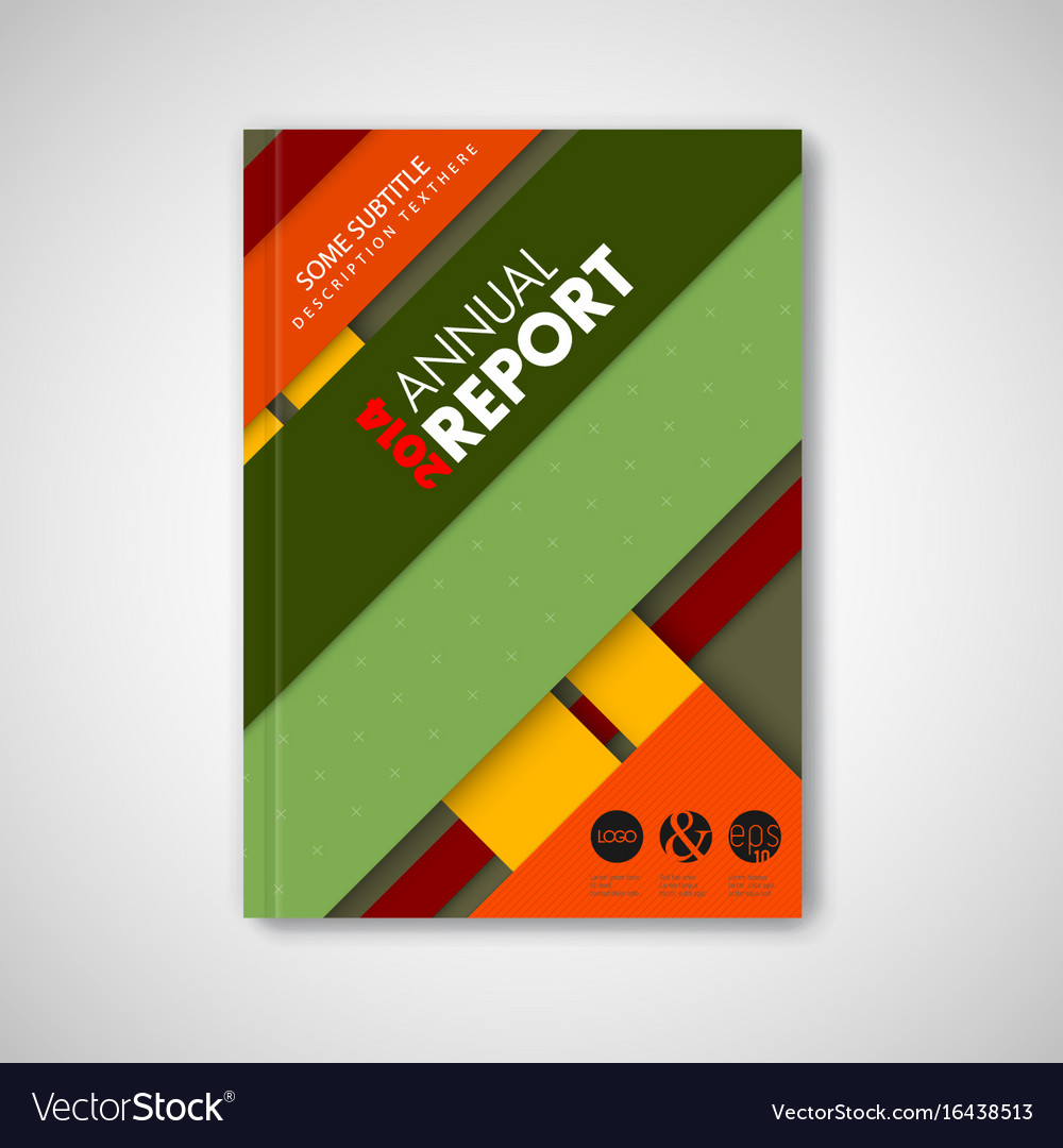 Brochure front page template with material design Vector Image