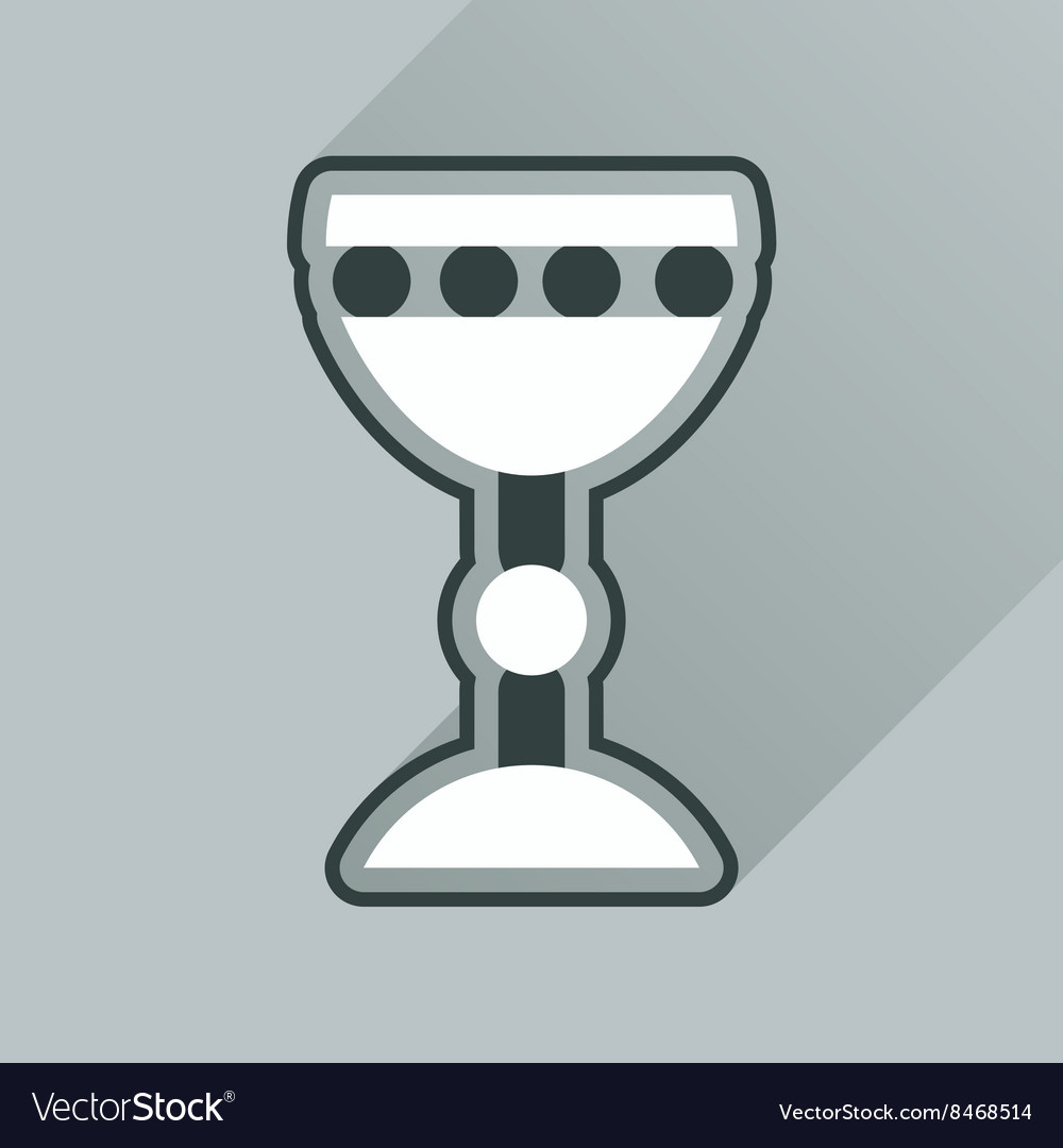 Flat icon with long shadow Holy Grail