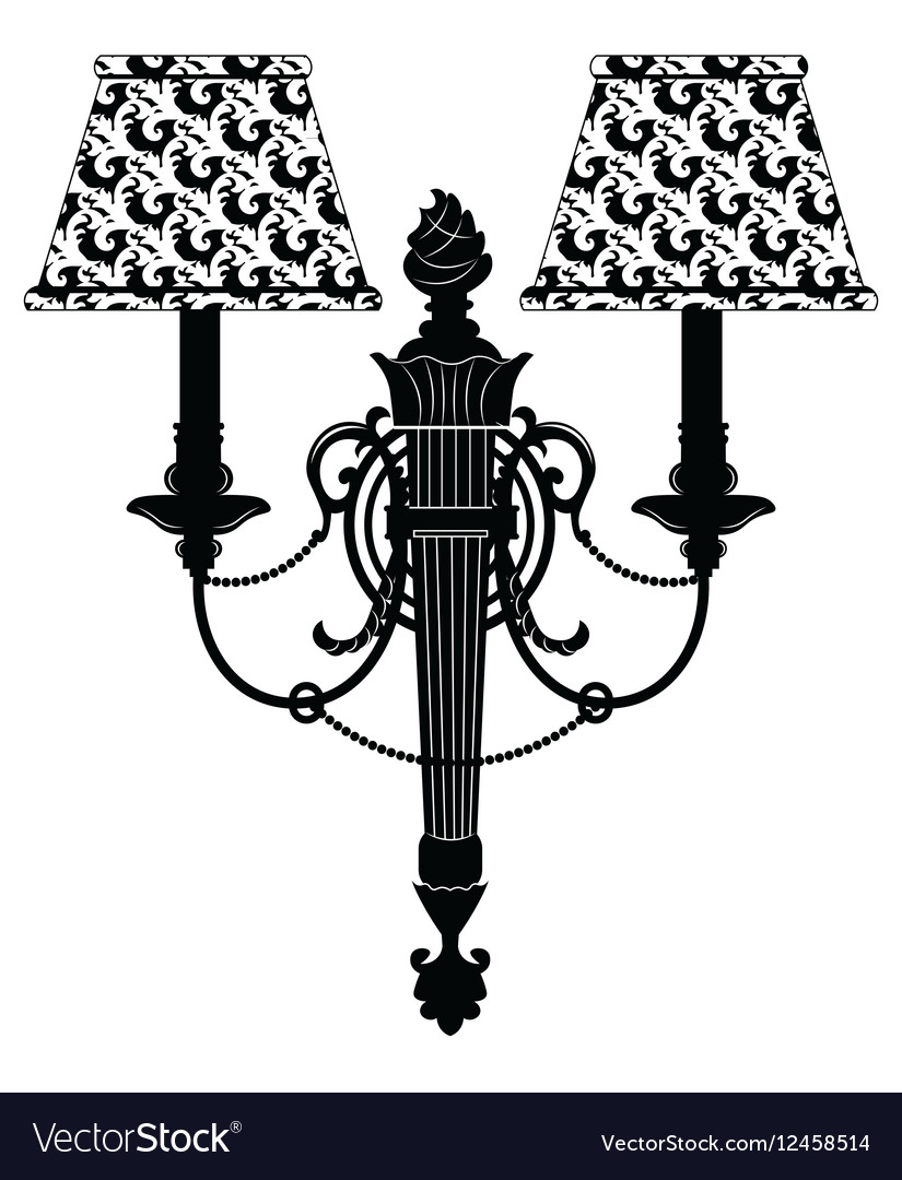 Baroque Elegant Rich Wall lamp vector image