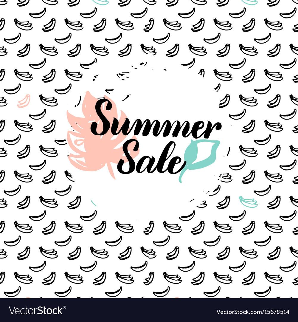 Summer sale postcard vector image