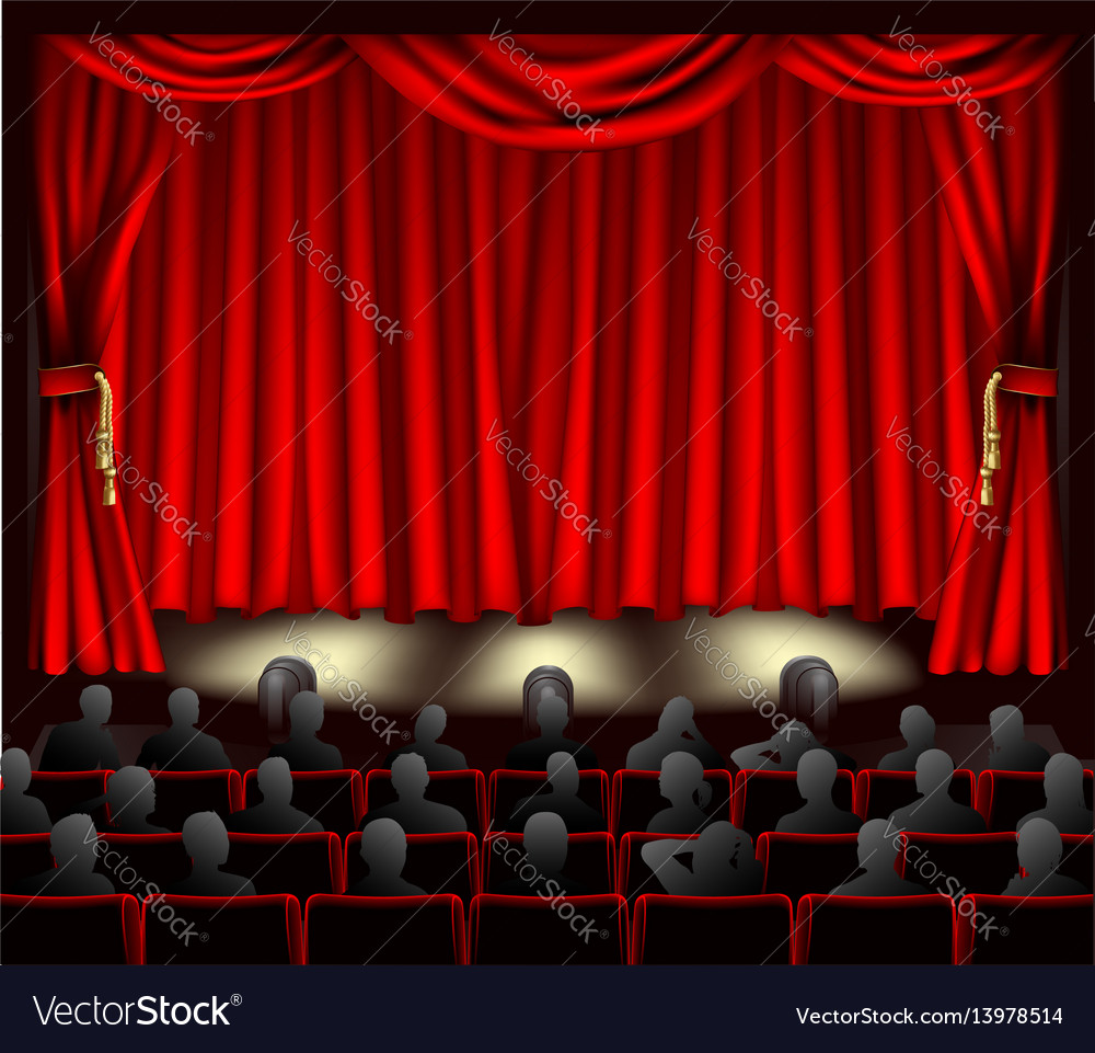 Theatre with audience vector image