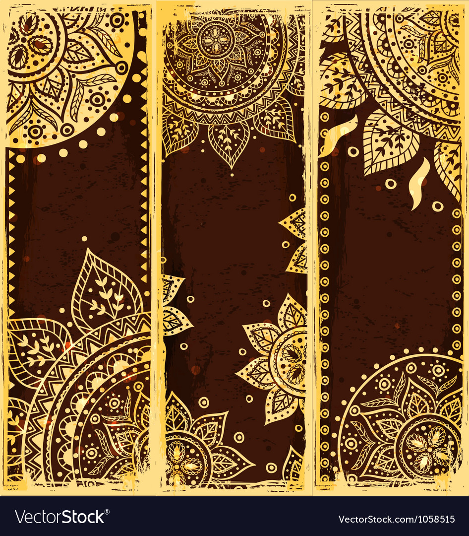 Set of ethnic bookmarks vector image