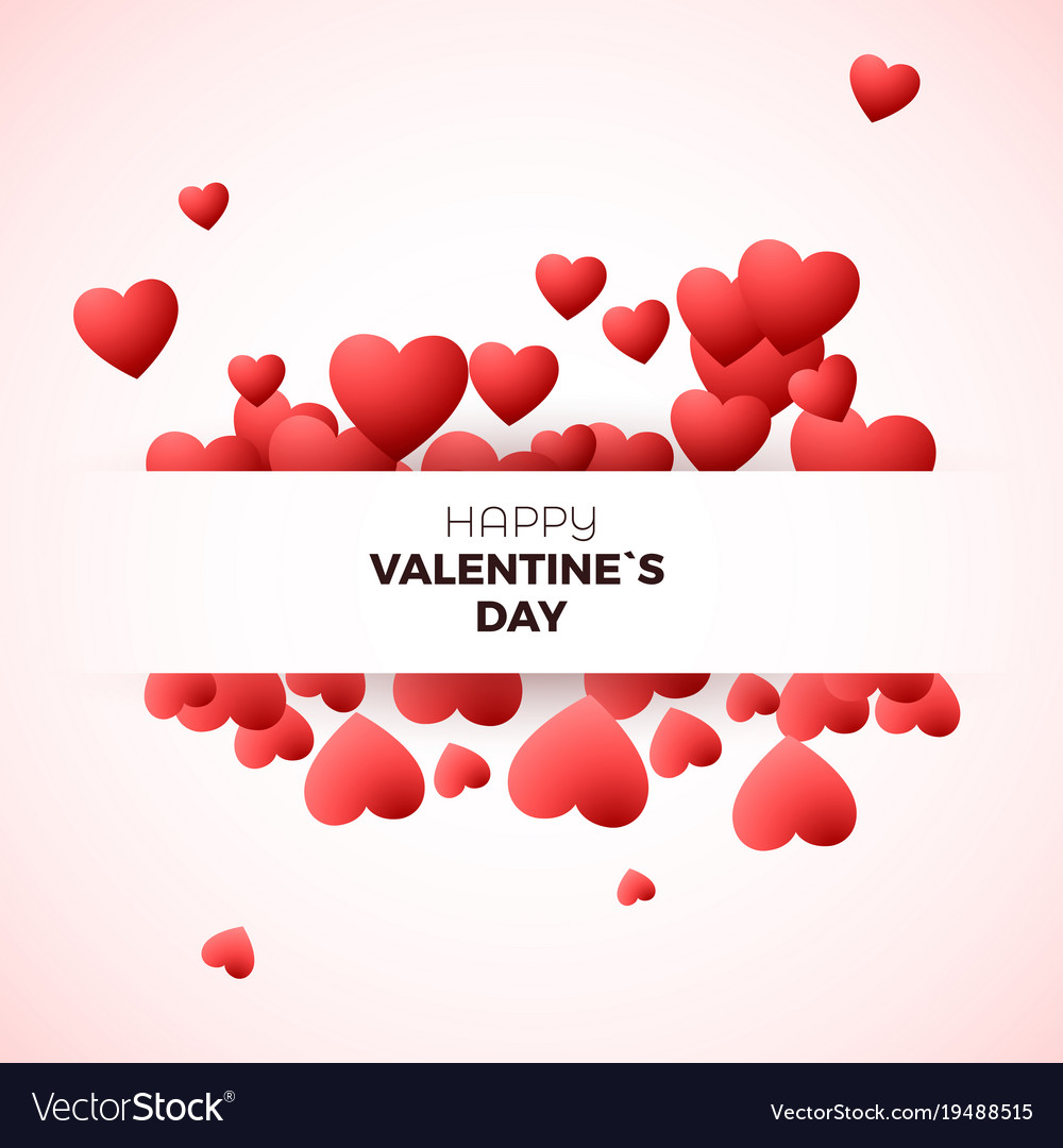 Happy valentines day greeting card concept design vector image kristyandbryce Image collections