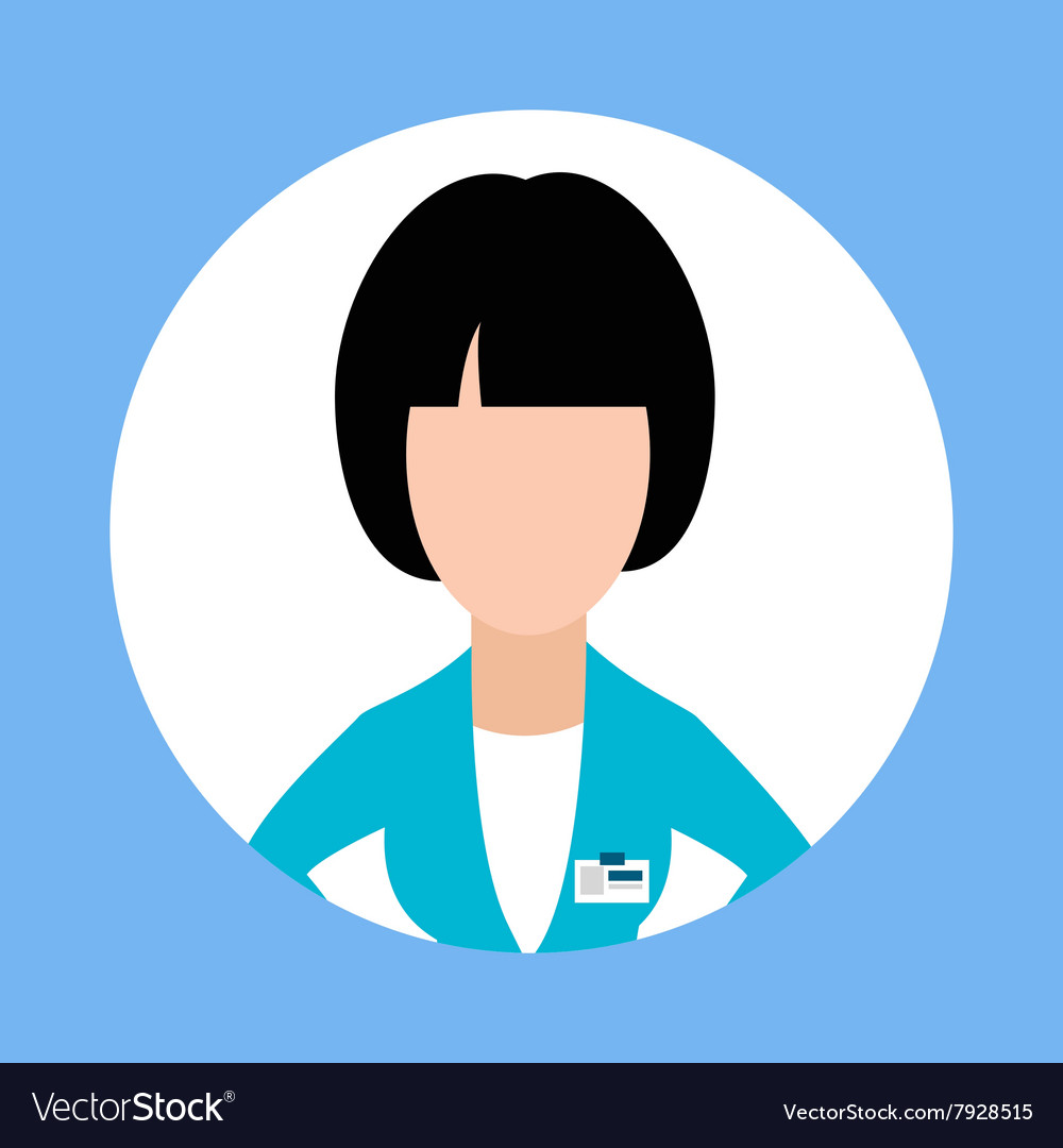 Icon Doctor Dentist Woman Flat Design vector image