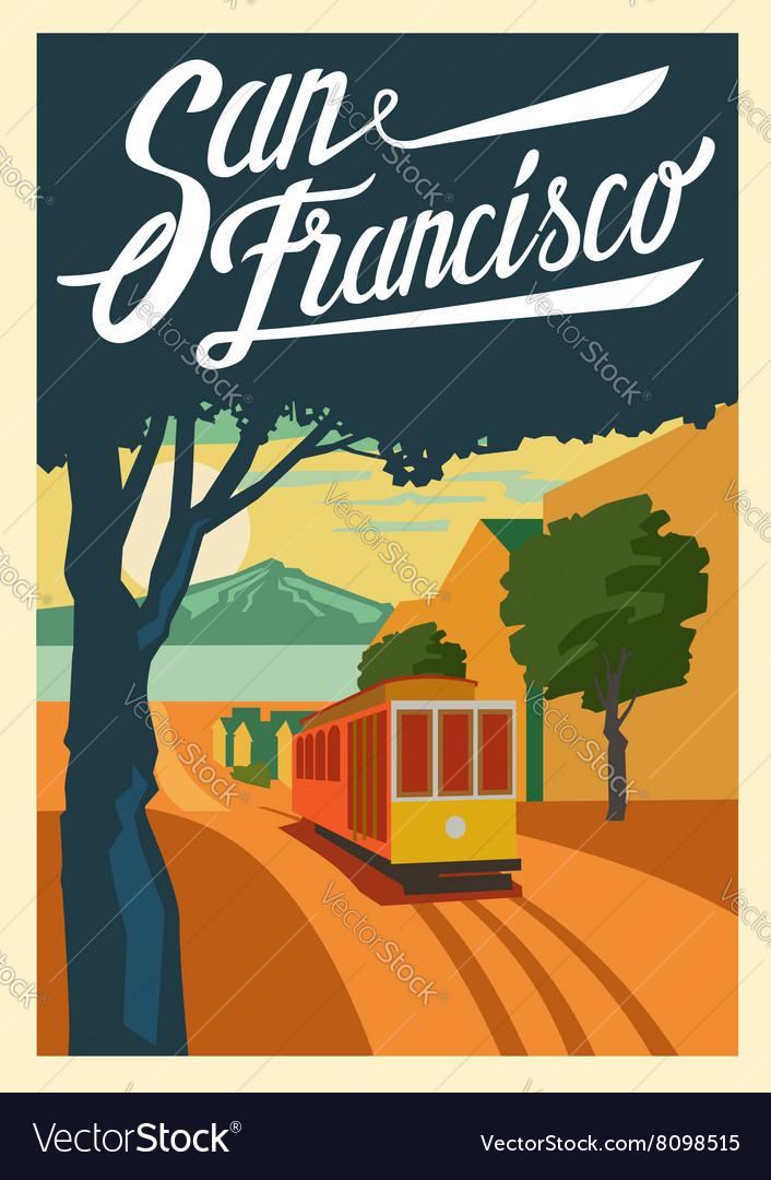 Poster San Francisco California vector image