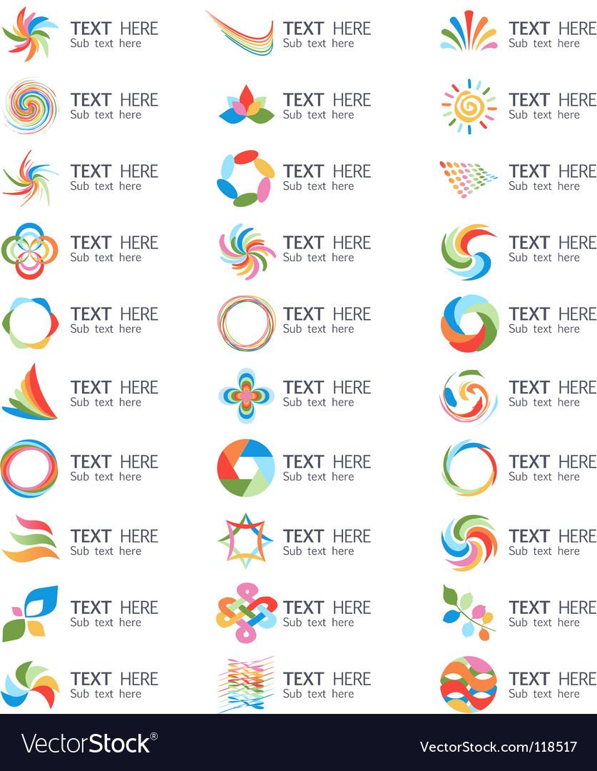 Swirl logos vector image