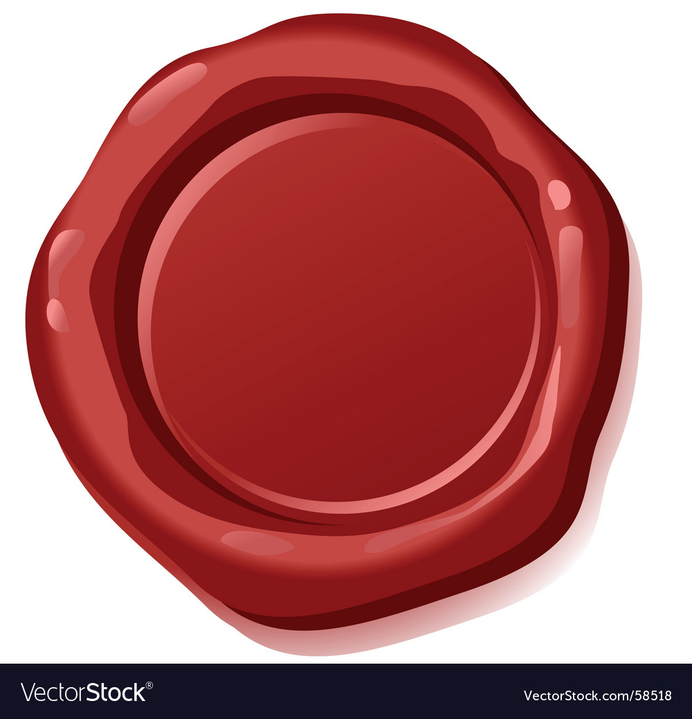Sealing wax vector image