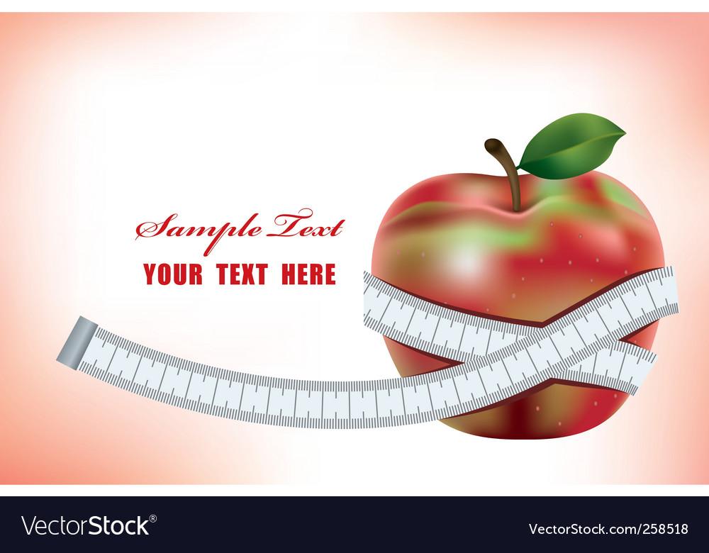 Healty diet vector image