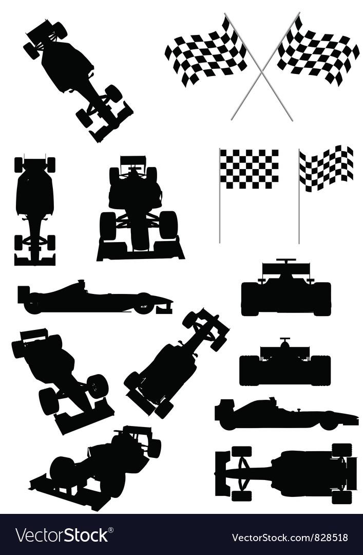 Racing Car Silhouette vector image