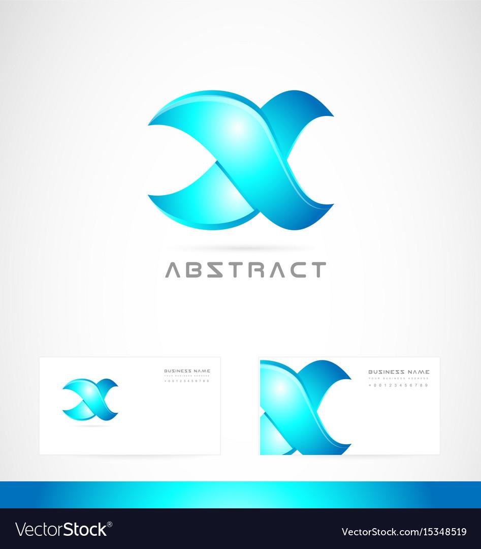 Corporate blue sign logo icon design vector image