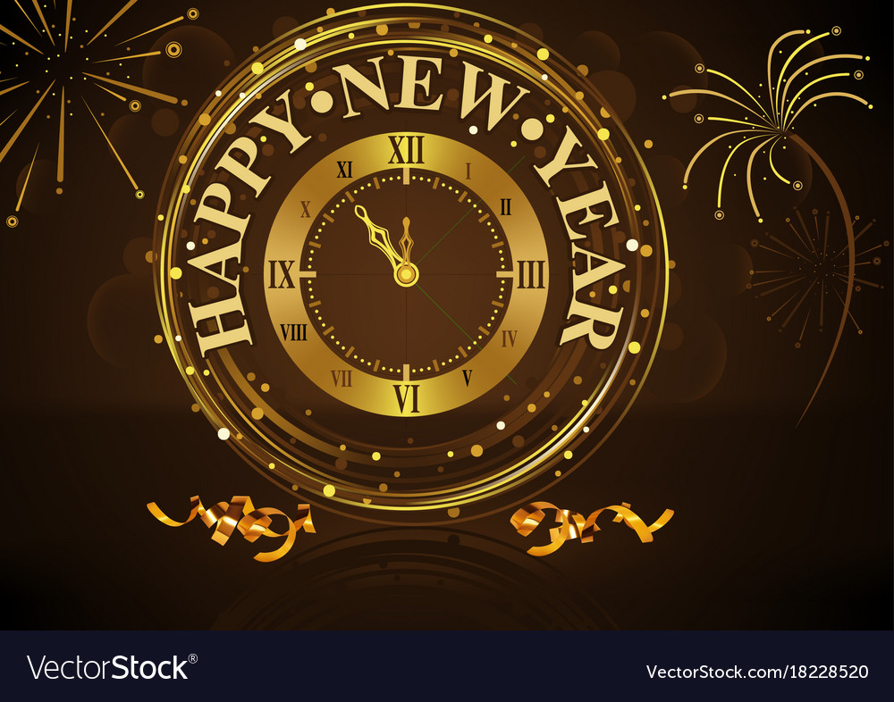 Happy new year greeting vector image