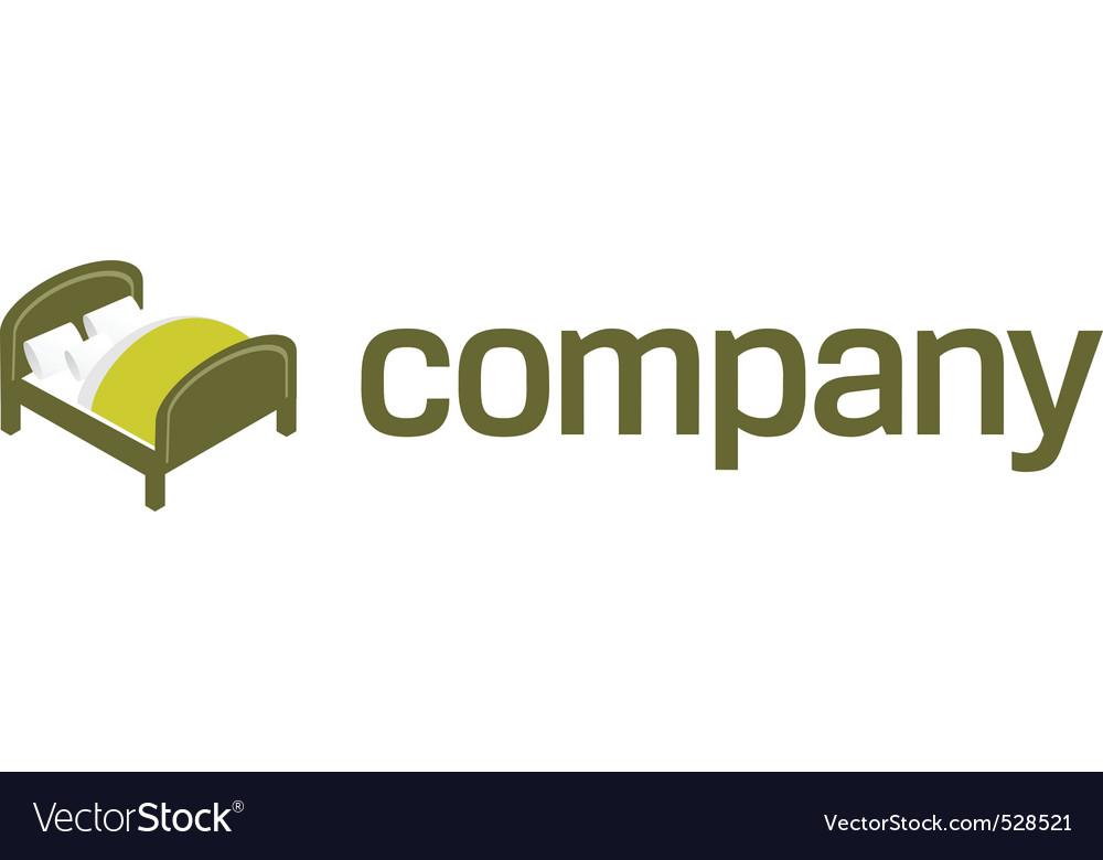 Logo for bedroom furniture vector image