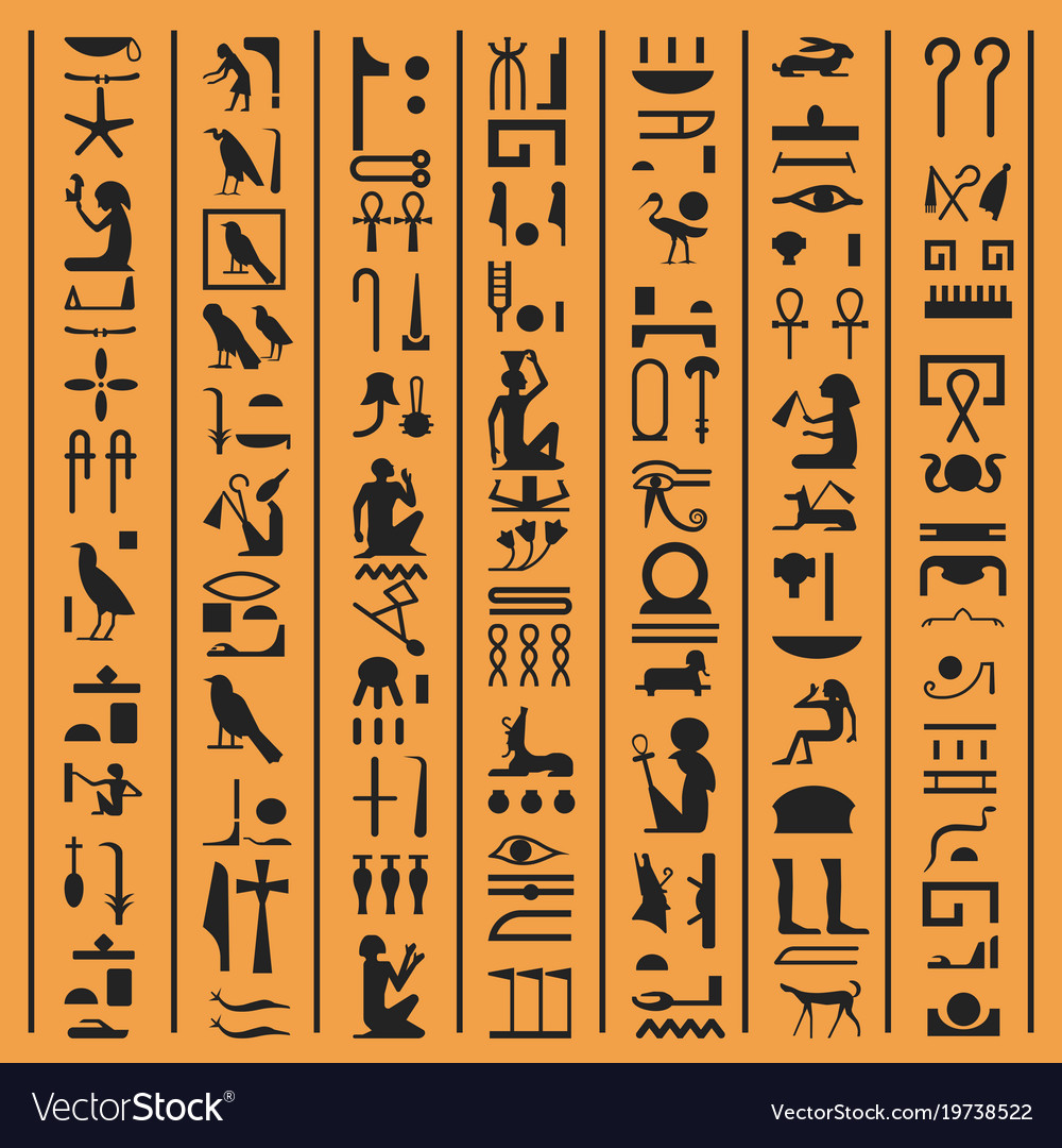 Egyptian hieroglyphs or ancient egypt letters vector image buycottarizona Choice Image