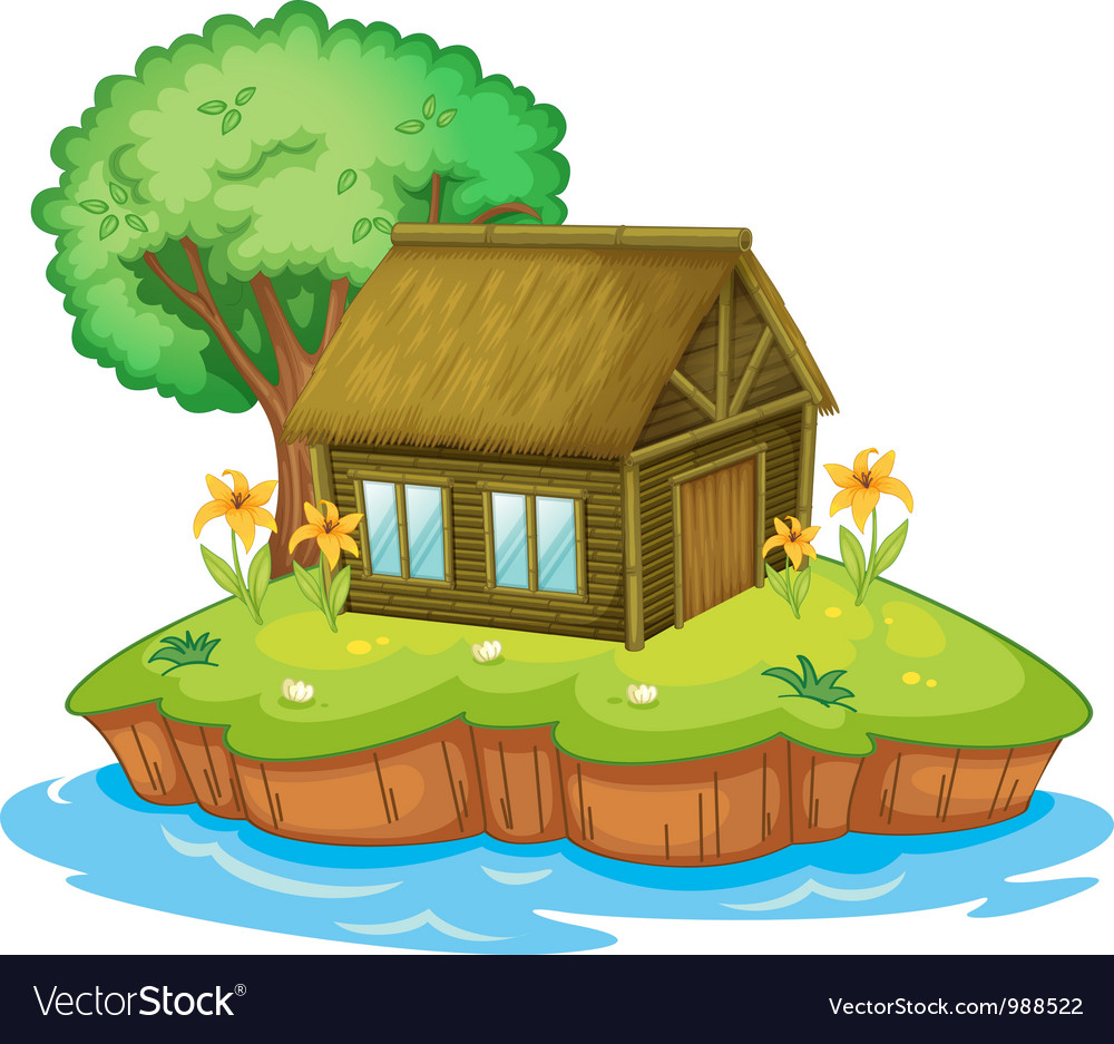 Island accommodation vector image