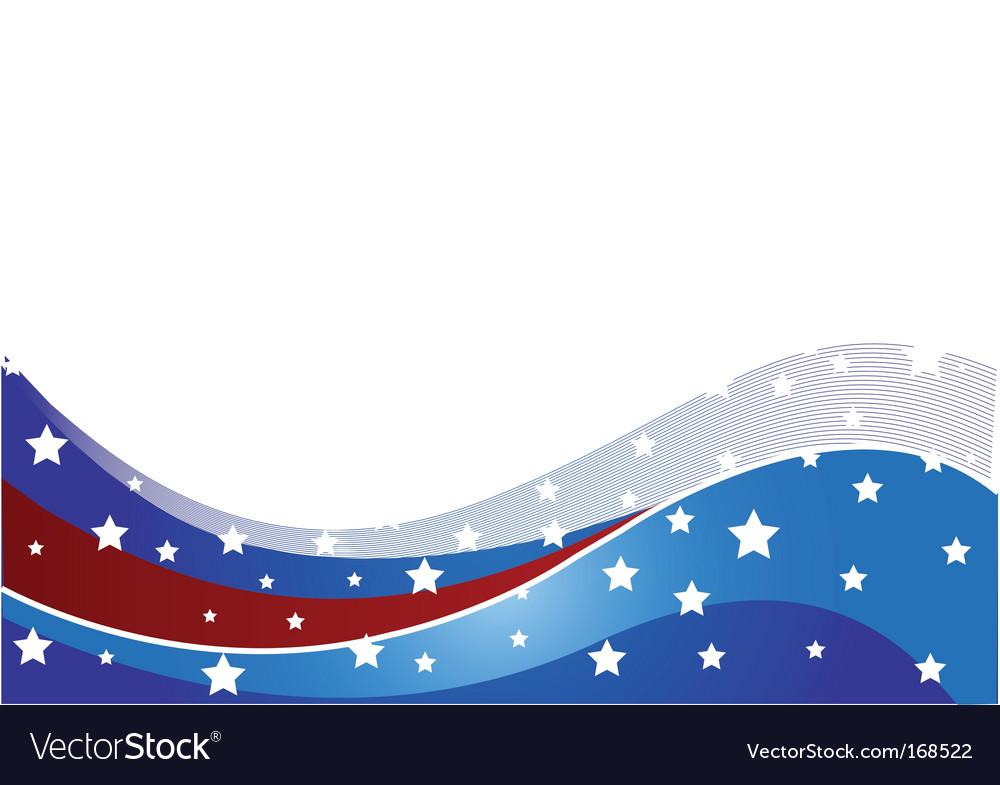Usa flag theme vector image