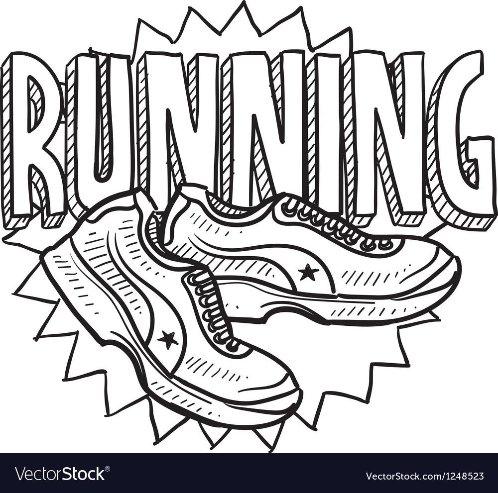 Running vector image