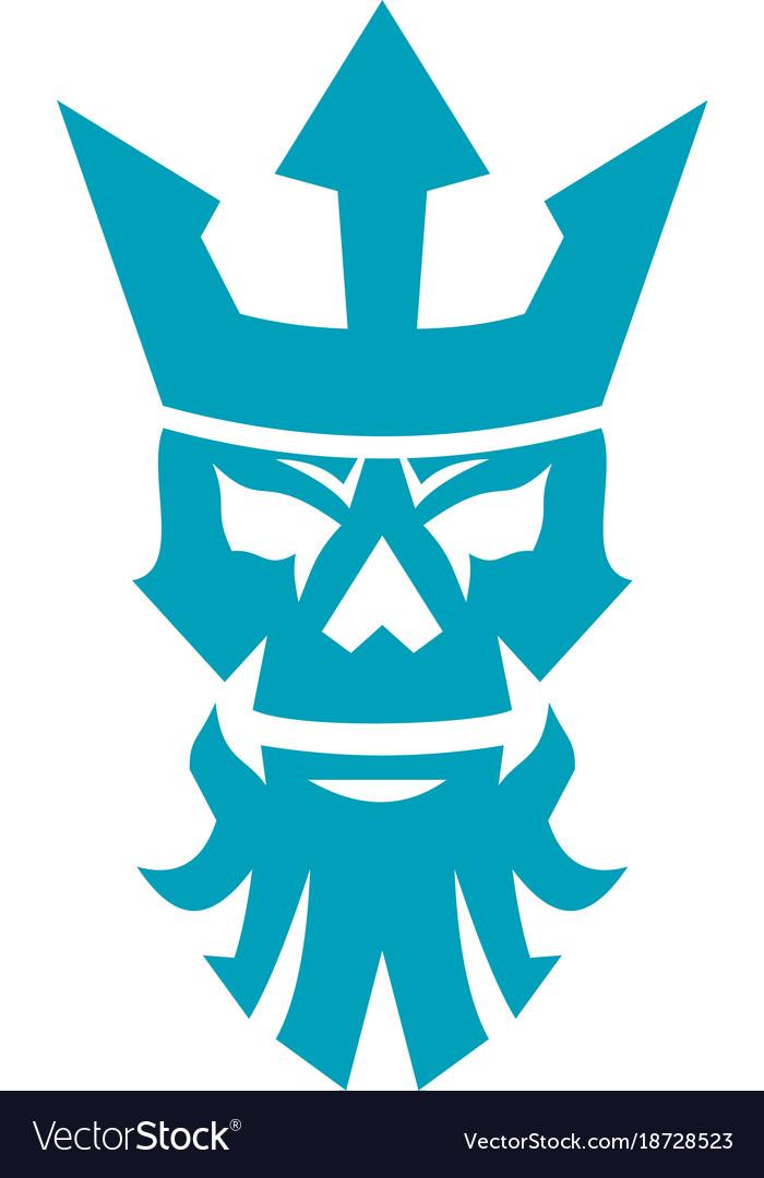 Poseidon skull wearing crown icon royalty free vector image poseidon skull wearing crown icon vector image biocorpaavc Choice Image