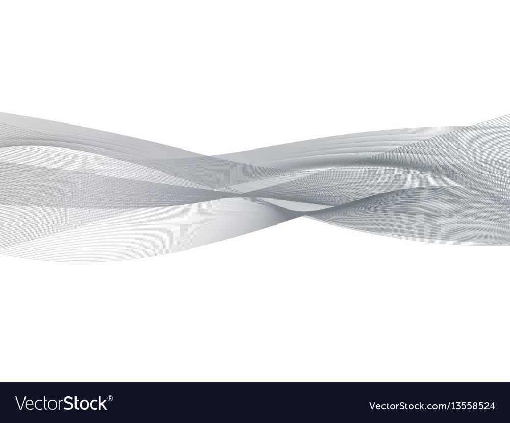 Abstract transparent grey wave background smoke vector image