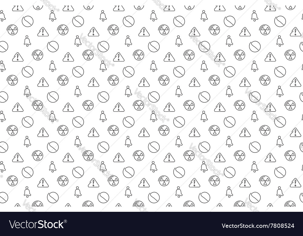 Danger and alarm seamless background vector image