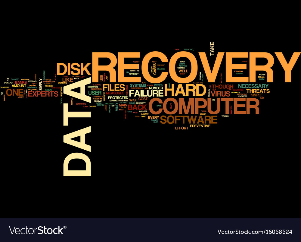 The necessity of back up files text background vector image