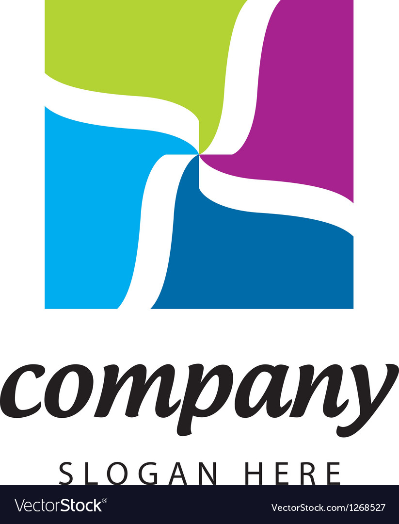 Logo textile company vector image