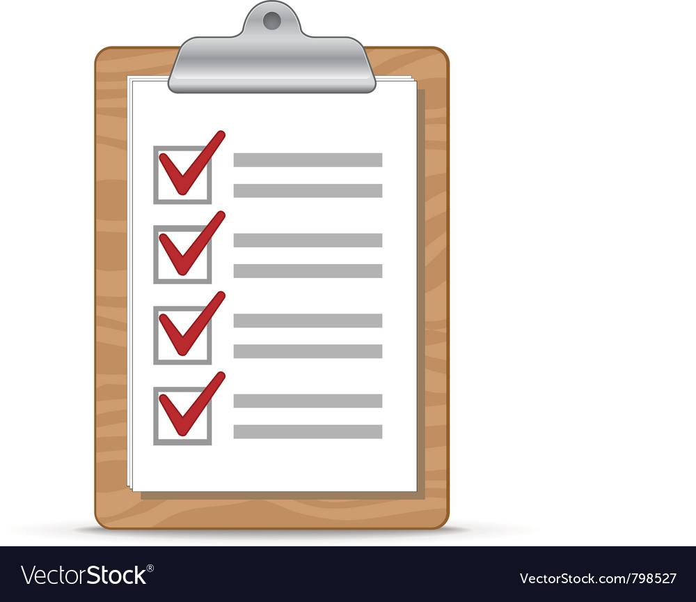 Clipboard and checklist Vector Image