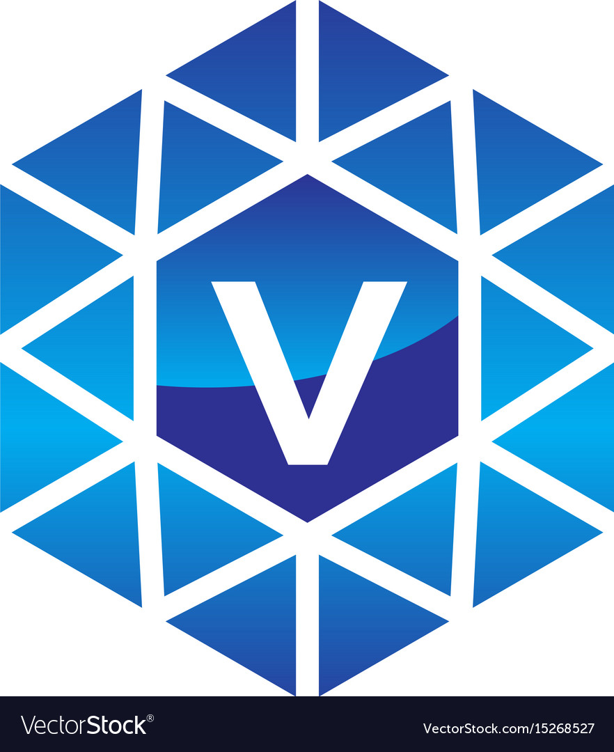 Diamond initial v vector image