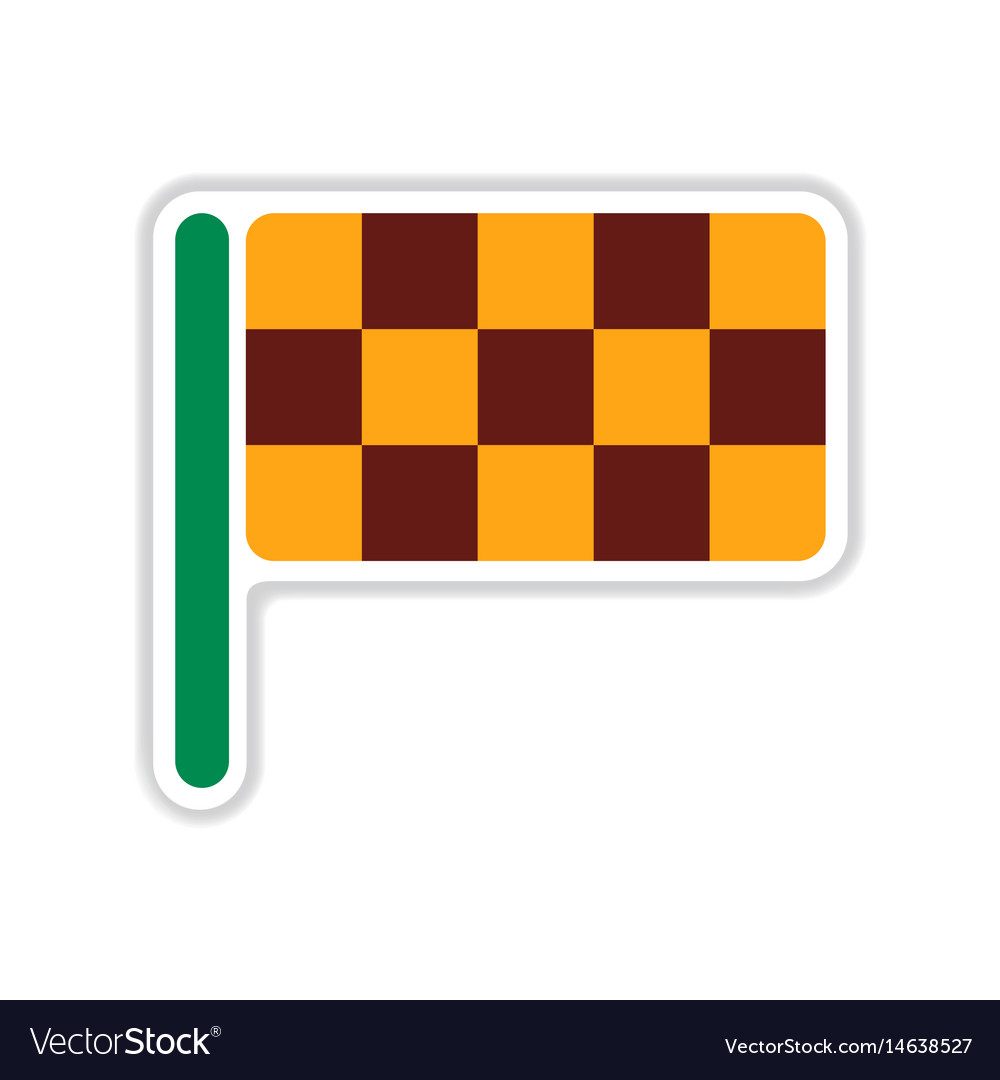 crossed chequered flags icon flat style