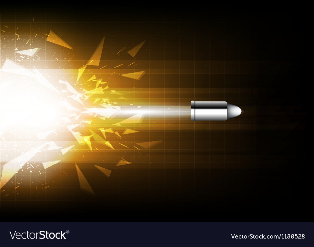 Power of bullet vector image