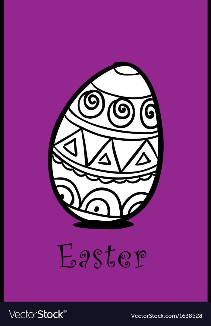 Egg on violet vector image