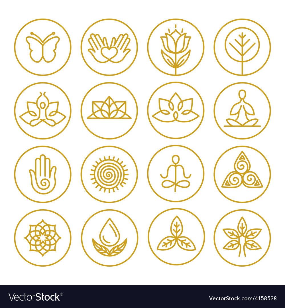Yoga icons vector image