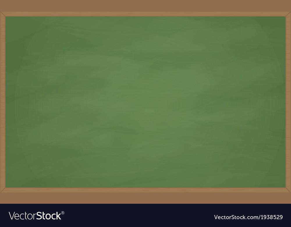 Blank Chalk Board vector image
