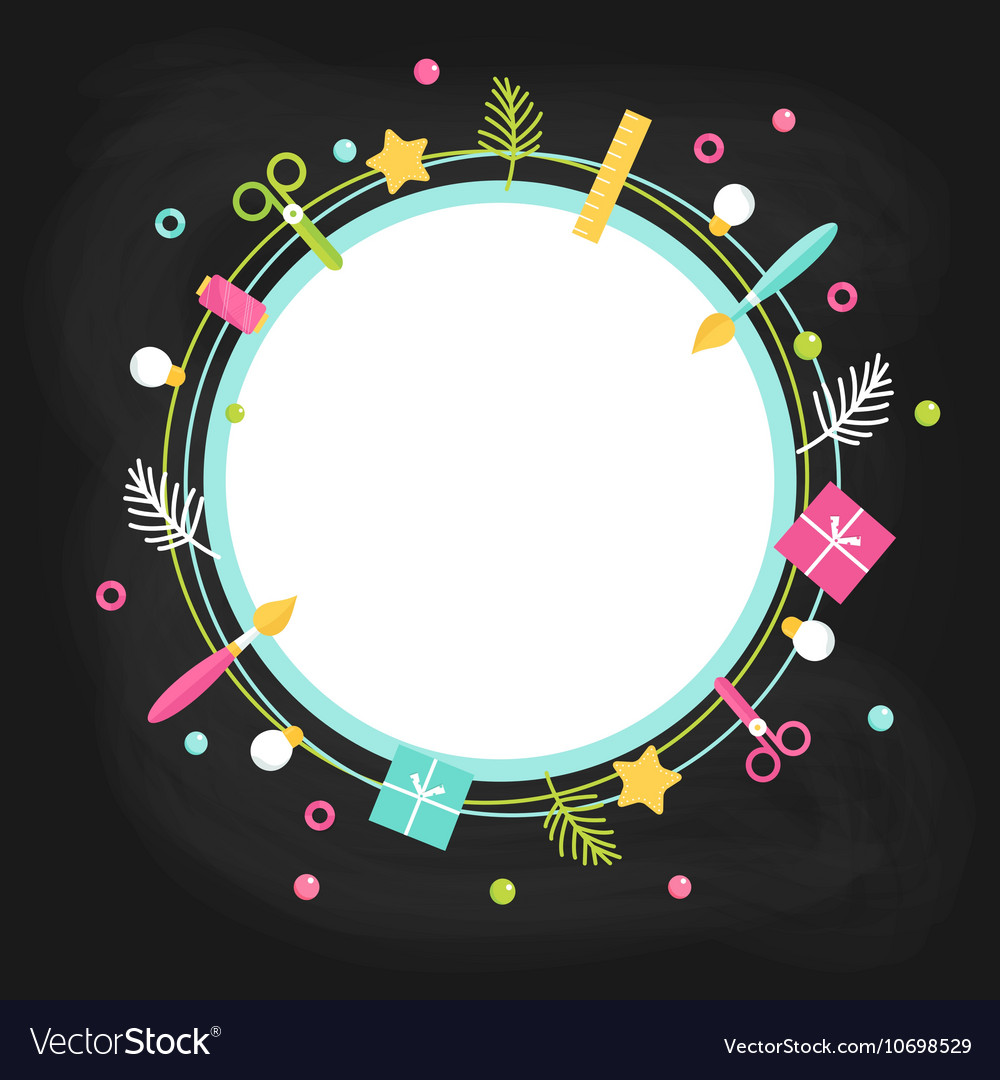 Creative Poster Template for Art Craft Handmade vector image