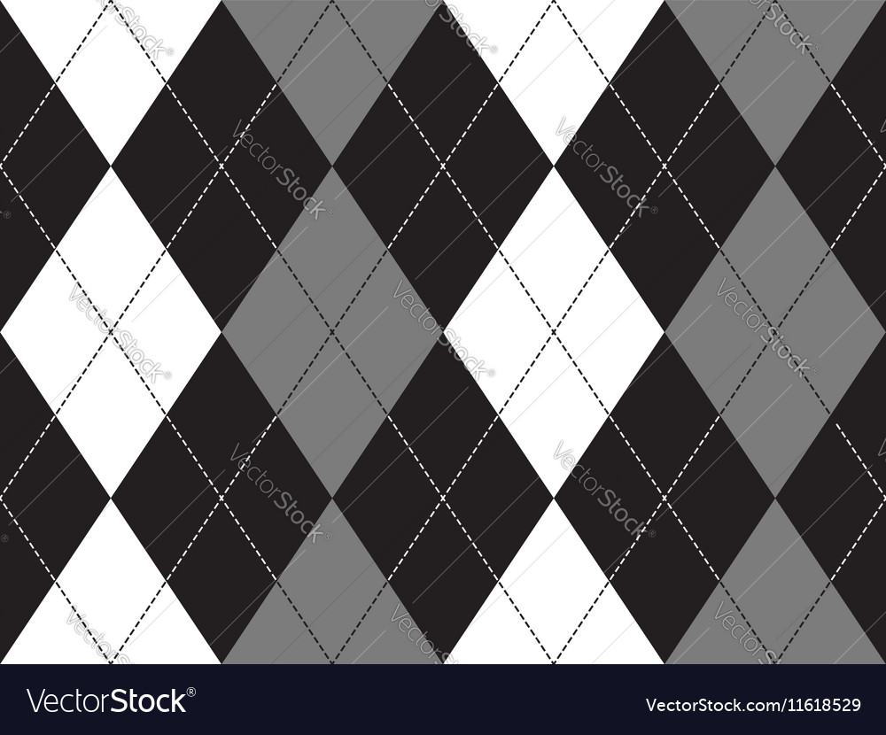 Grayscale argyle seamless pattern vector image