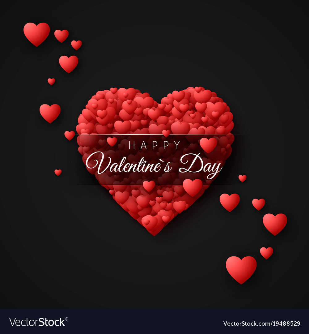 Happy valentines day greeting card concept vector image kristyandbryce Image collections