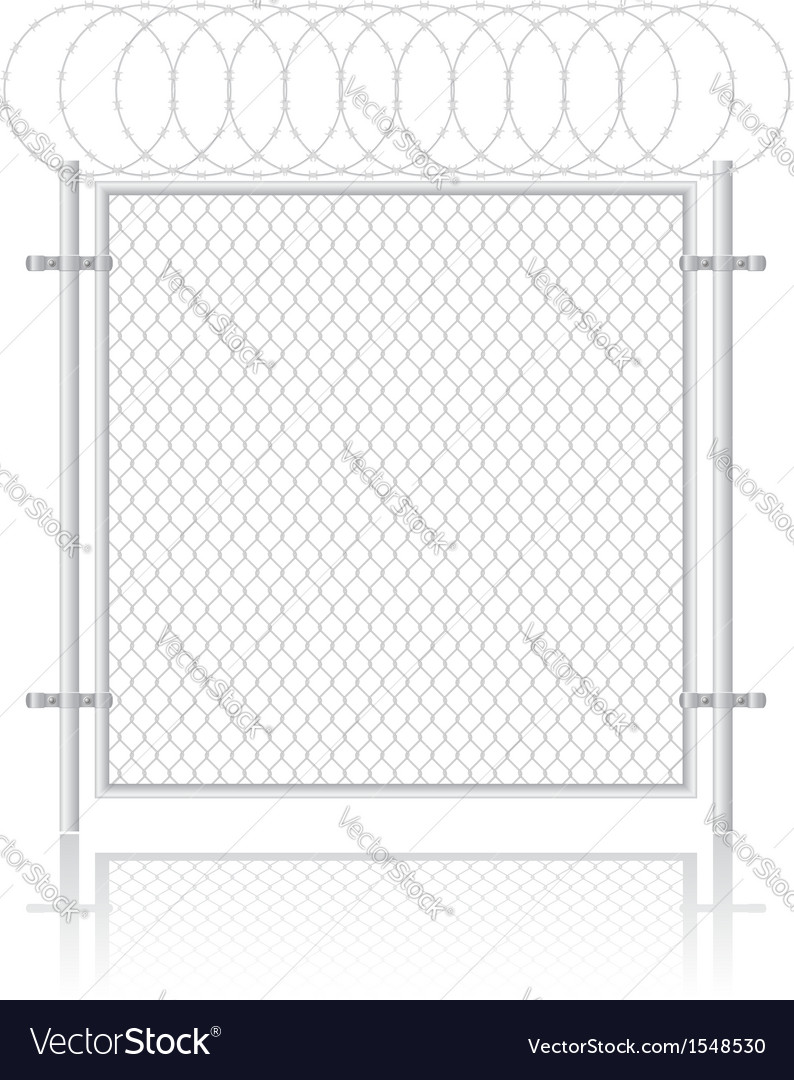 Fence made of wire mesh 02 vector image