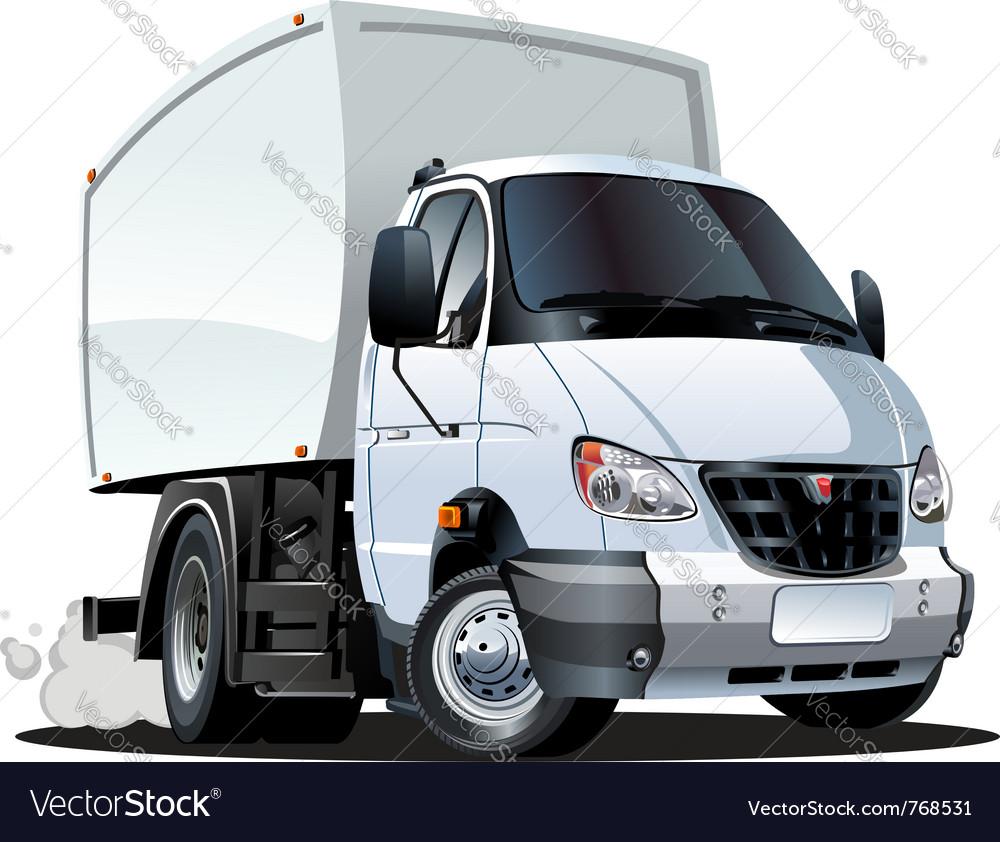 Cartoon delivery truck vector image