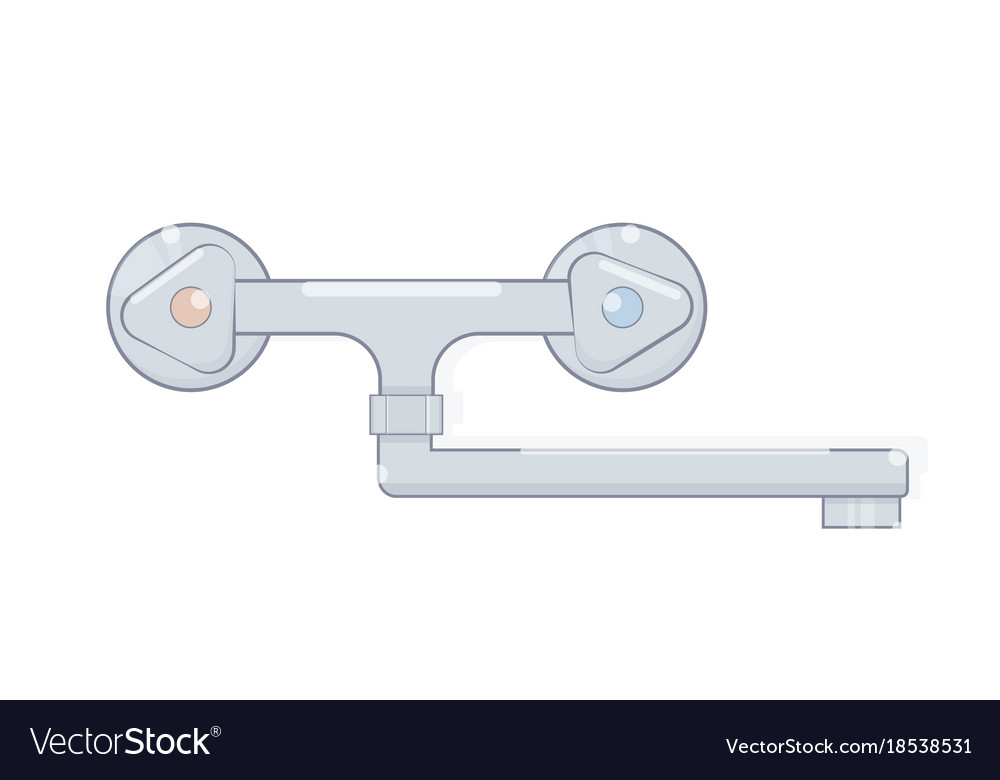 Faucet for bathroom cartoon style vector image