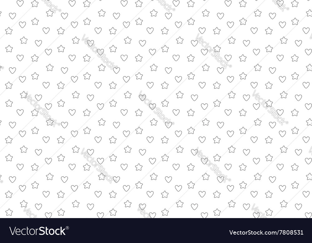 Favorite stars and hearts seamless background vector image