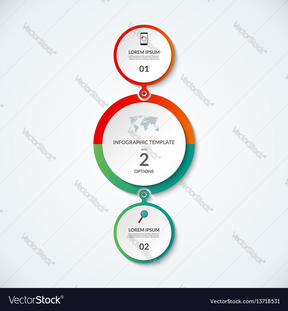 Infographic banner with 2 options vector image
