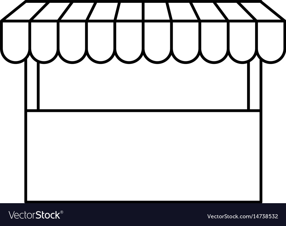 Black silhouette of store icon vector image