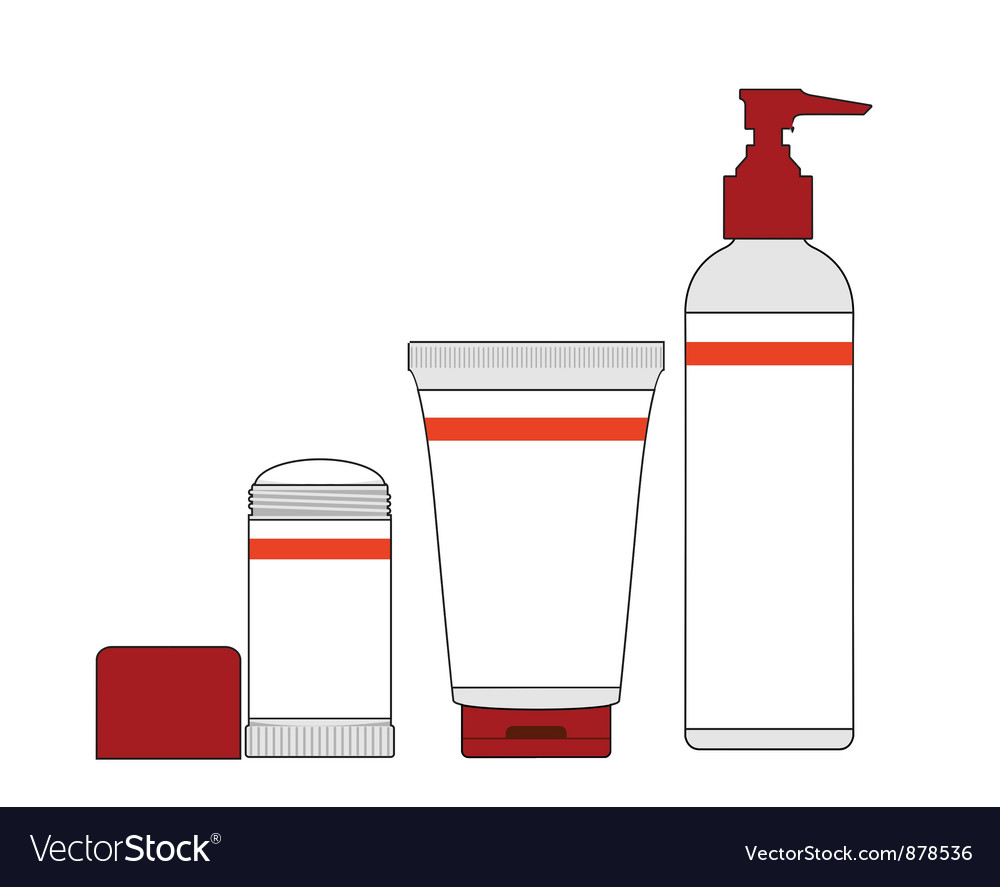 Jars and bottles of cosmetics Vector Image