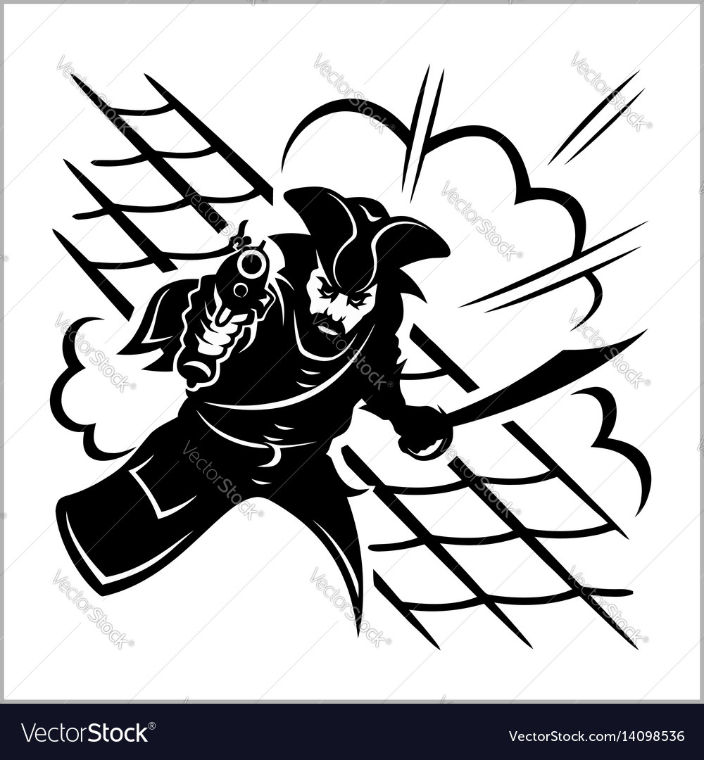 Attack of pirate - vector image
