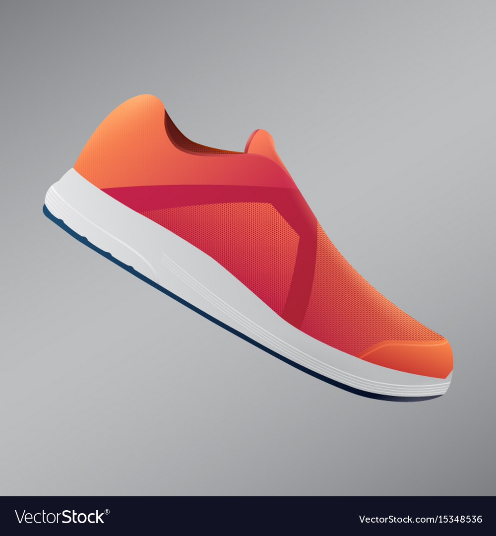 Shoes design running shoes orange sneakers sport vector image