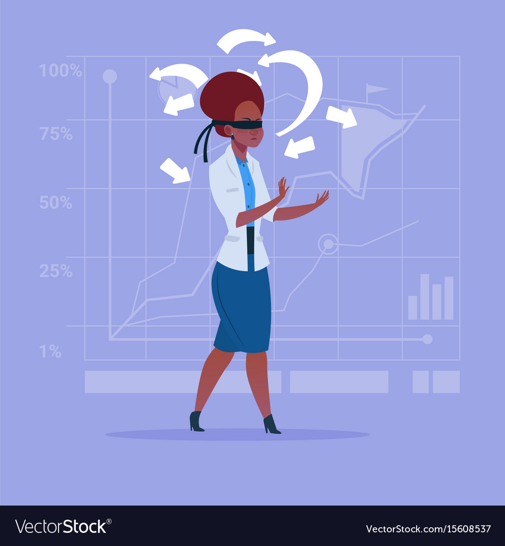 African american business woman with bandage on vector image